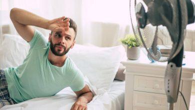 التعرق عند الرجال أثناء النوم